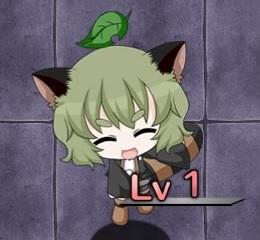 緑髪の化け狸